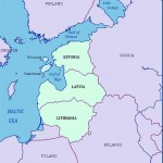 Baltic states map - Estonia, Latvia, Lithuania